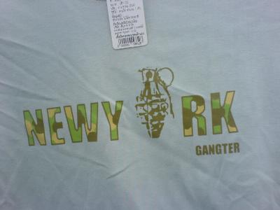 Engrish Tshirt  - New York Gangster